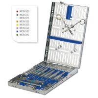 Cassette DIN version 18 instruments avec espace libre + clips pour 2 instruments à charnière