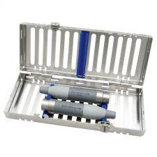 Cassette DIN 1/4, bleue, pour 2 pièces à main