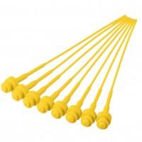 Pistons plastiques n°0 (jaune, 16 pièces)