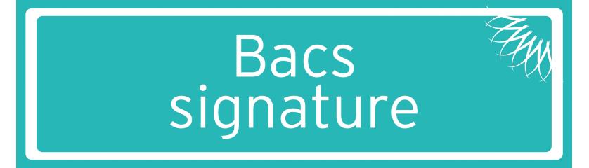 Bacs signature