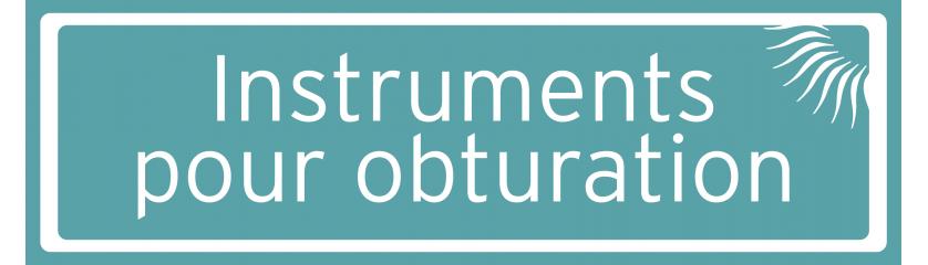 Instruments pour obturation composite/plastique